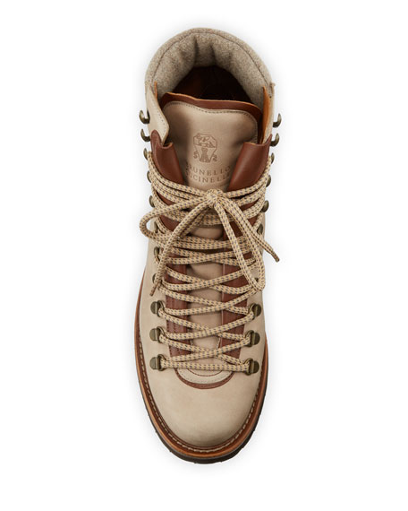 Brunello Cucinelli Men's Suede Hiker Boots