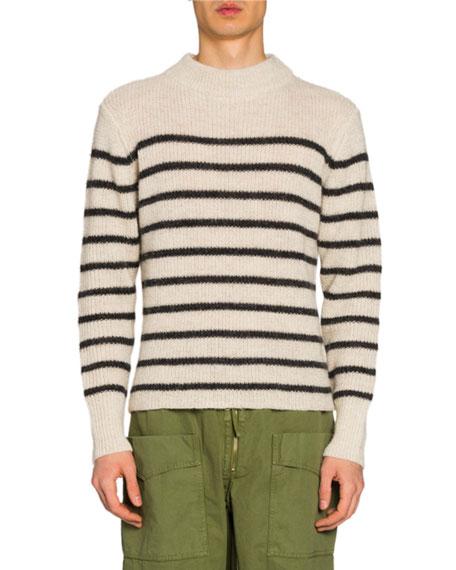 Isabel Marant Men's Striped Mock-Neck Sweater