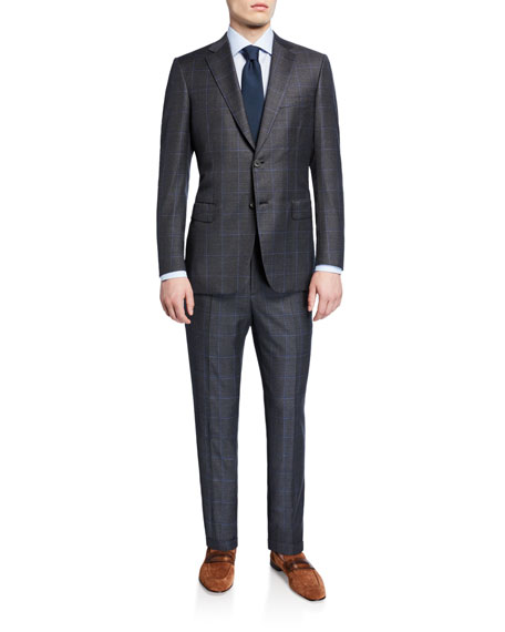 Brioni Men's Windowpane Two-Piece Wool Suit