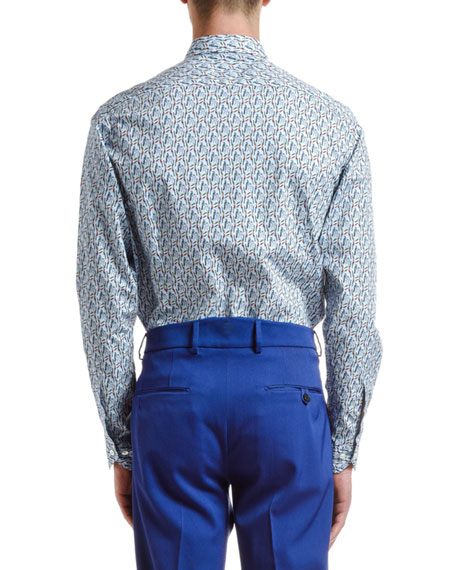 Etro Men's Bird-Print Sport Shirt
