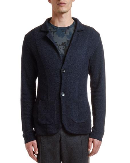 Etro Men's Garment-Dyed Knit Cardigan Sweater