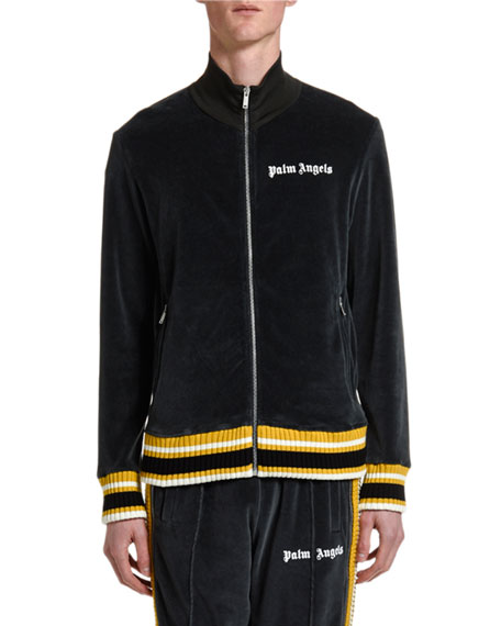Palm Angels Men's Chenille Track Jacket with Stripes