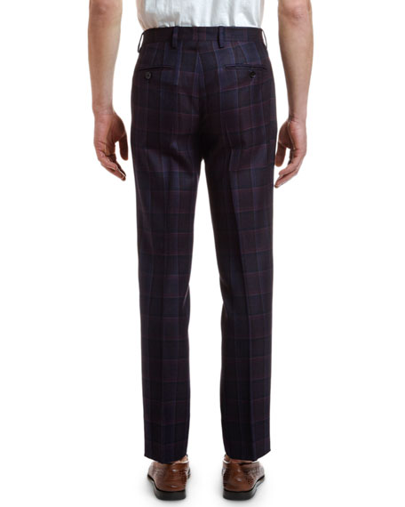 Etro Men's Wool Plaid Suit Separate Trousers