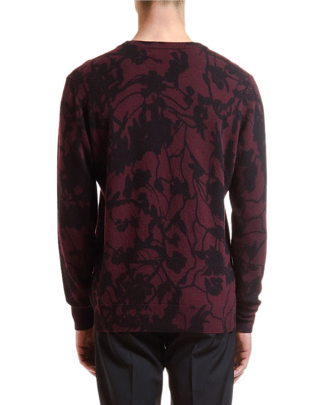 Etro Men's Wool-Cashmere Camouflage Sweater