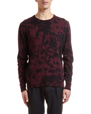 b6f02c3bc82d7 Etro Men's Wool-Cashmere Camouflage Sweater