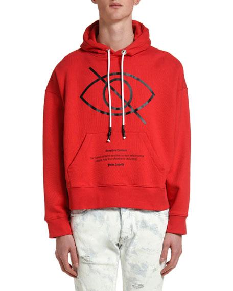 Palm Angels Men's Sensitive Content Hoodie Sweatshirt