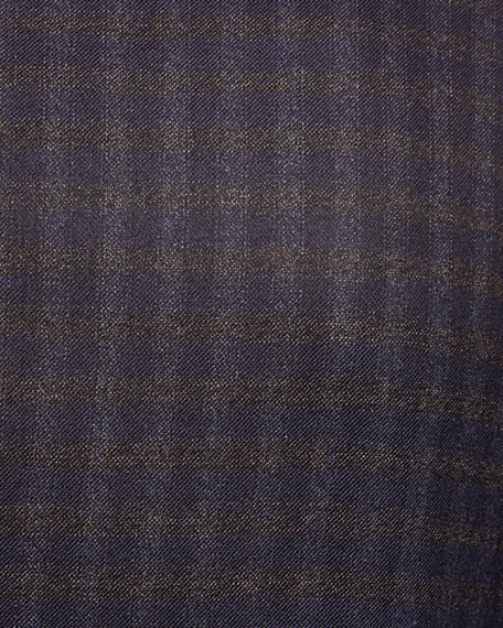 Brioni Men's Two-Tone Check Two-Button Jacket