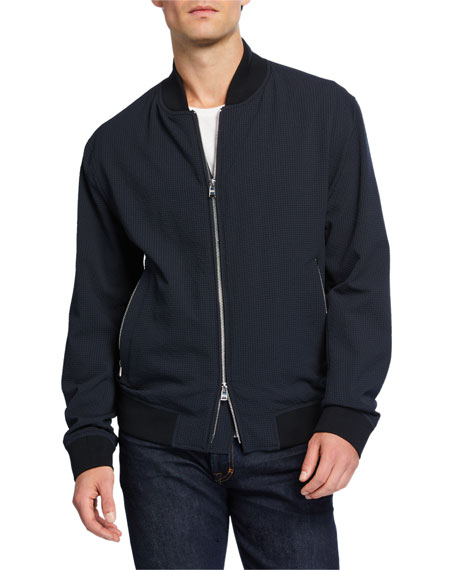 BOSS Men's Solid Bomber Jacket