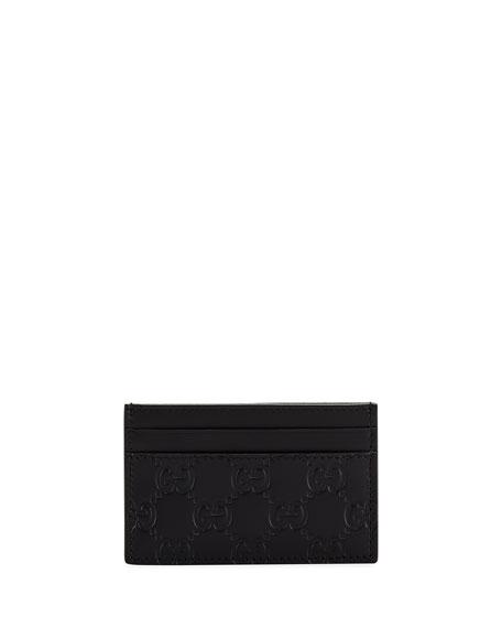 Gucci Men's GG Signature Leather Card Case