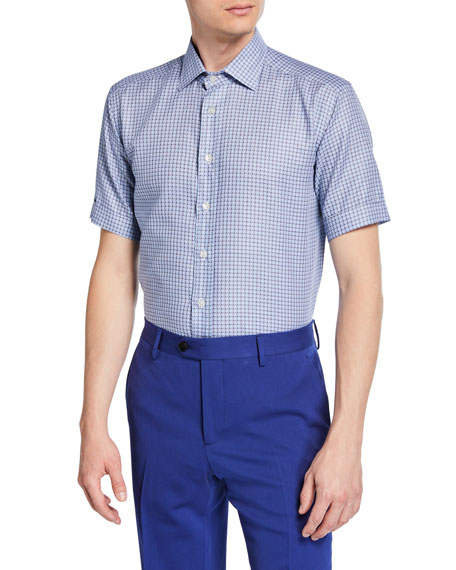 Etro Men's Geo Printed Short-Sleeve Sport Shirt