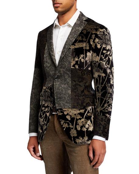 Etro Men's Floral Velvet Patchwork Sport Jacket