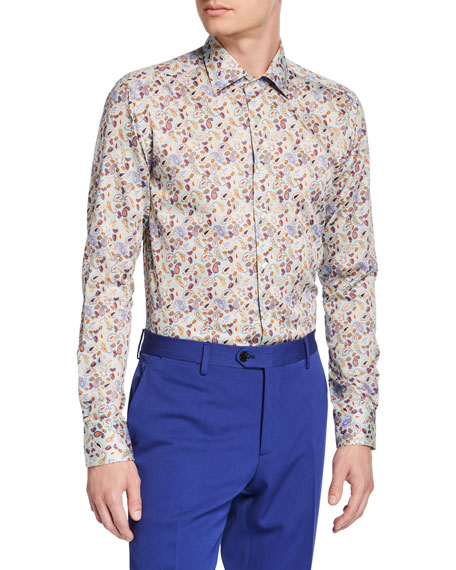 Etro Men's Paisley Cotton Sport Shirt