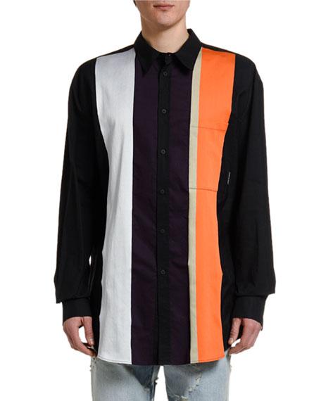 Marcelo Burlon Men's Stripes Button-Front Sport Shirt