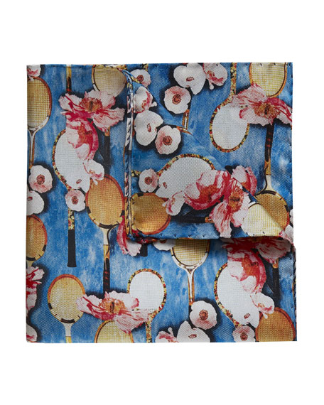 Eton Men's Silk Floral Pocket Square