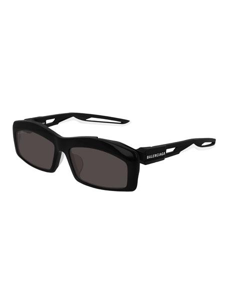 Balenciaga Men's Rectangle Cutout Sunglasses