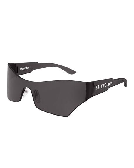 Balenciaga Men's Injection Rectangle Shield Sunglasses
