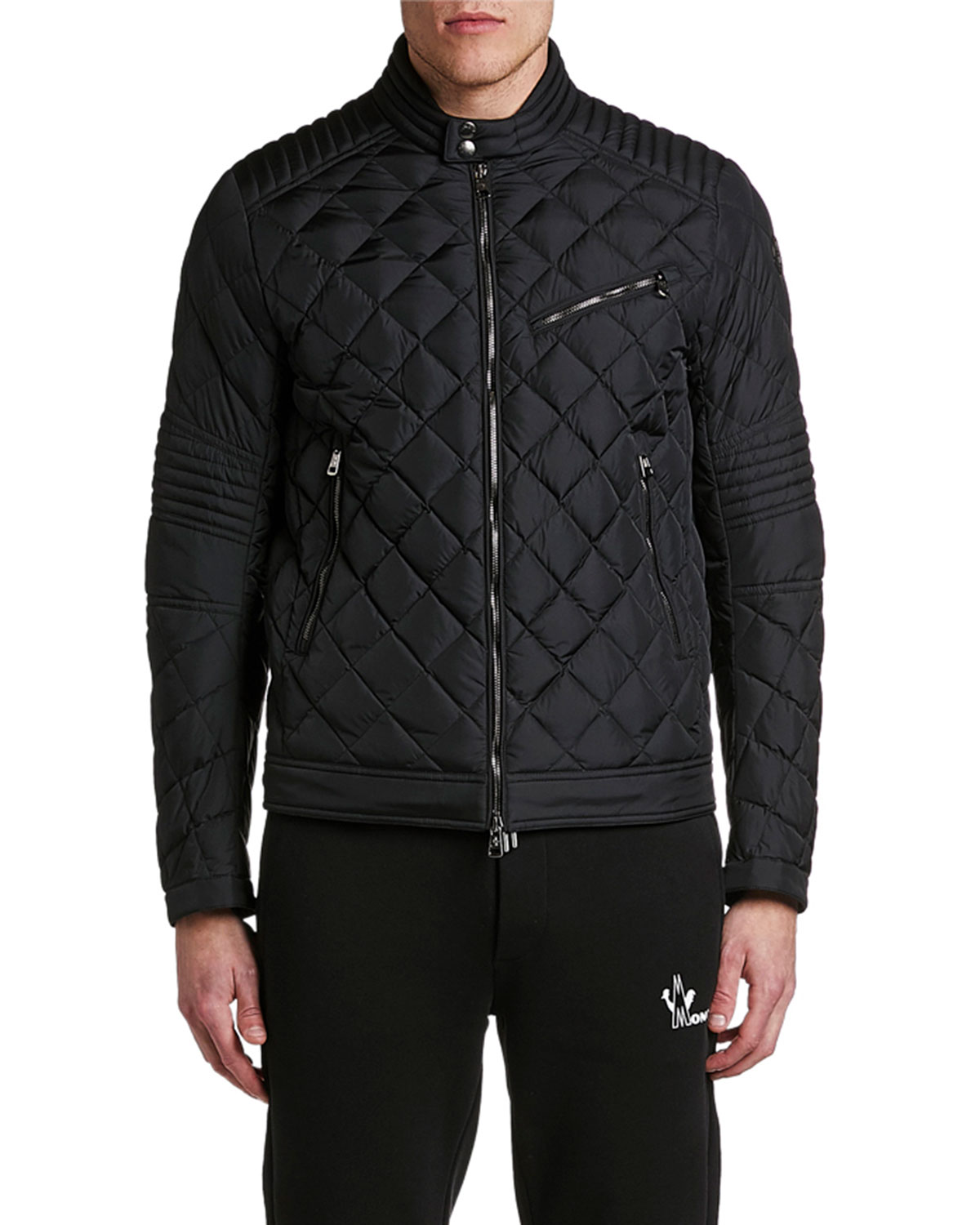 Men's Breitman Quilted Moto Jacket by Moncler