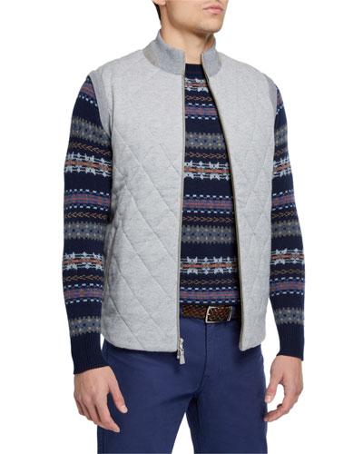 Men's Zip-Front Birdseye Vest