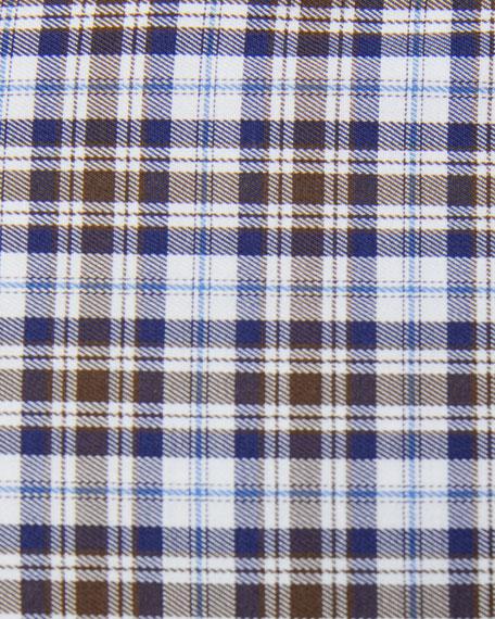 Peter Millar Men's Mini-Check Woven Sport Shirt
