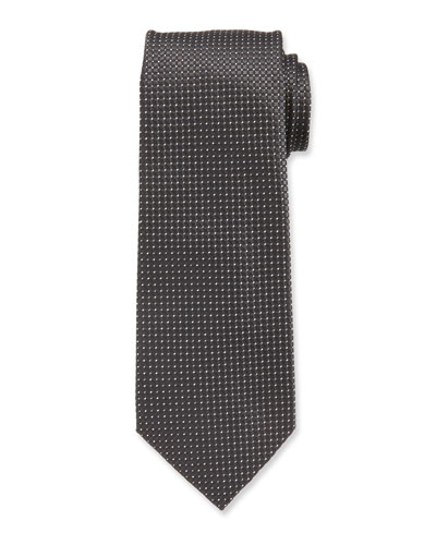 Men's Flax Patterned Mulberry Silk Tie