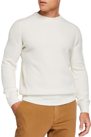 Ermenegildo Zegna Men's Cashmere-Blend Crewneck Sweater