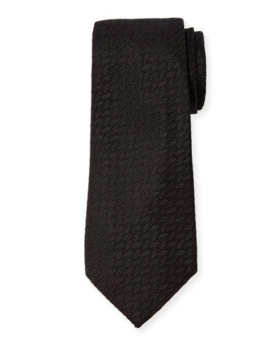 Men's Solid Cotton-Silk Tie