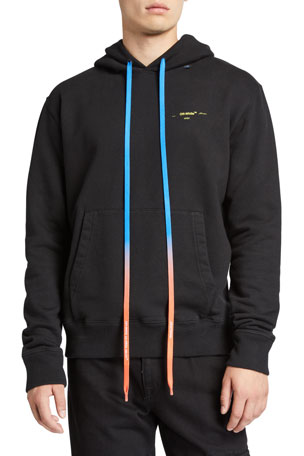 Off-White Men's Acrylic Arrows Slim Hoodie Sweatshirt