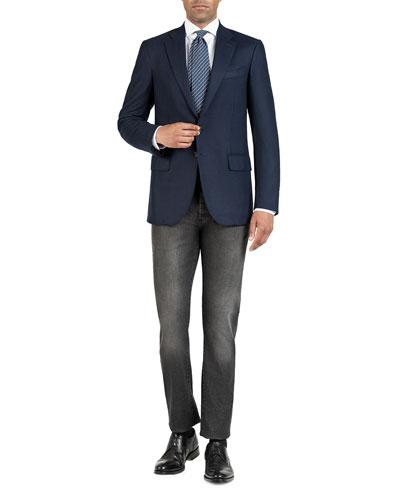 Men's Tonal Houndstooth Super 200's Wool Sport Jacket