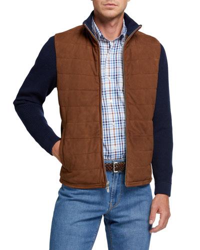 Men's Suede Hybrid Cardigan Jacket