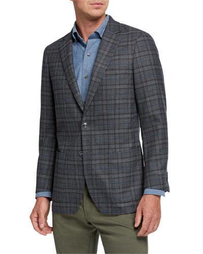 Men's Mini Pane Two-Button Jacket