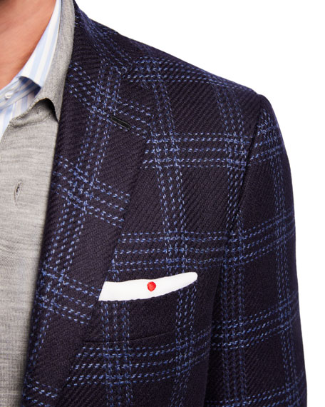 Kiton Men's Plaid Cashmere Sport Jacket