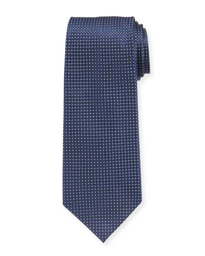 Micro-Check Silk Tie