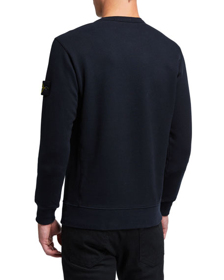 Stone Island Men's Classic Fleece Crewneck Sweatshirt
