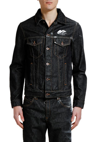 Off-White Men's Arrow Slim Denim Jacket