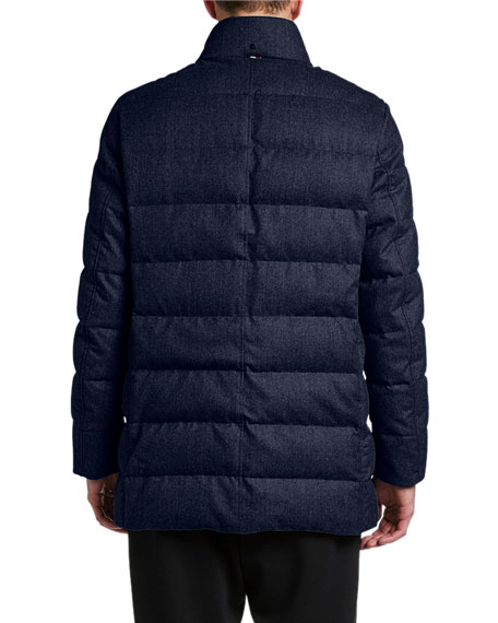 Moncler Men's Baudier Button-Front Puffer Coat