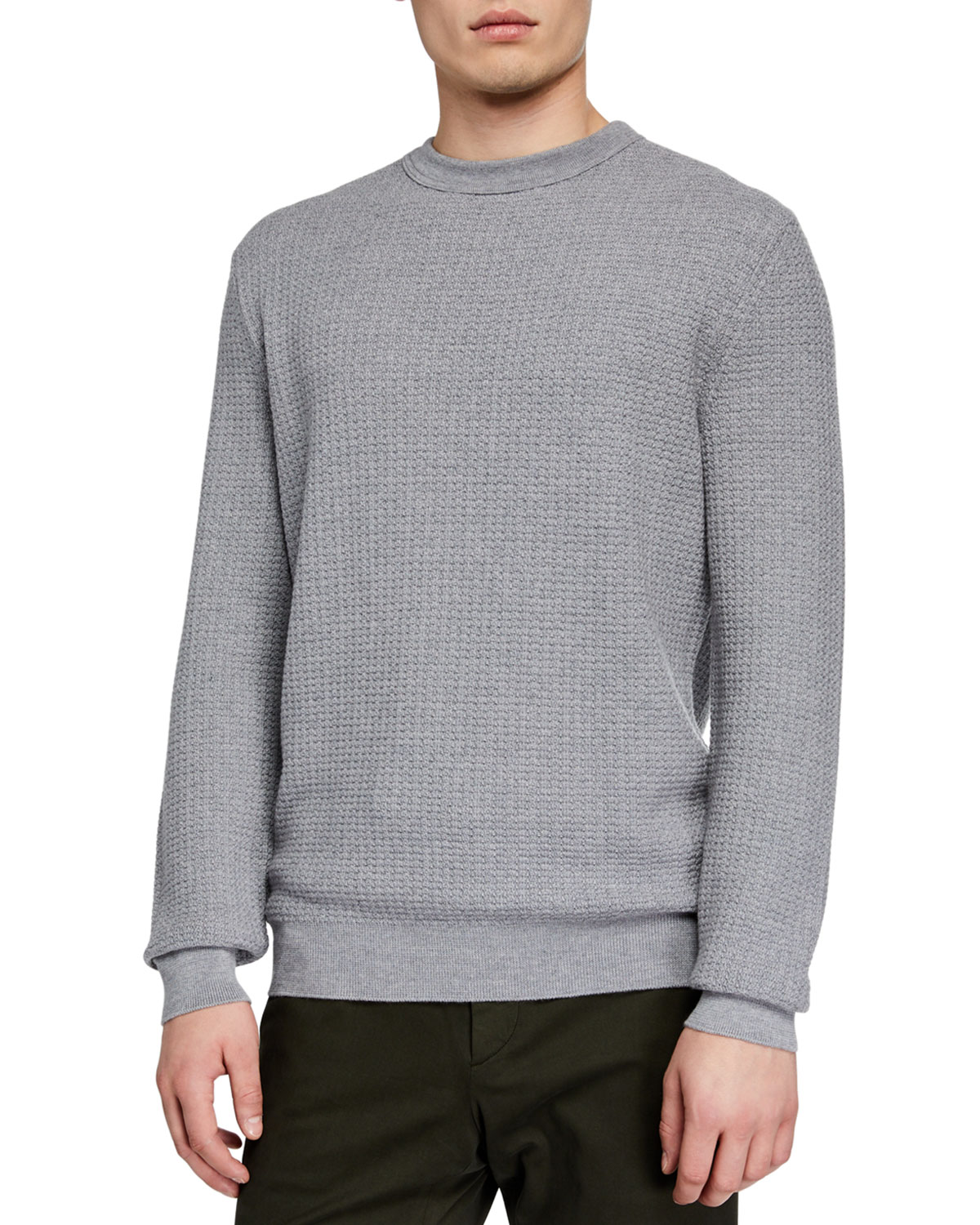d32b388f Men's Textured Cashmere-Blend Sweater