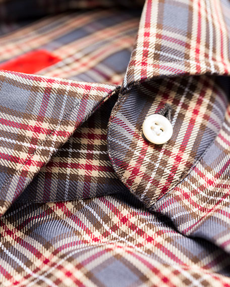 Image 3 of 3: Isaia Men's Plaid Sport Shirt