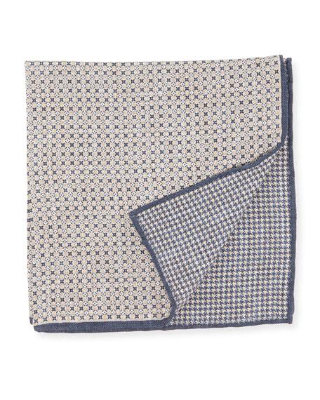 Brunello Cucinelli Reversible Mixed Mini Pattern Pocket Square