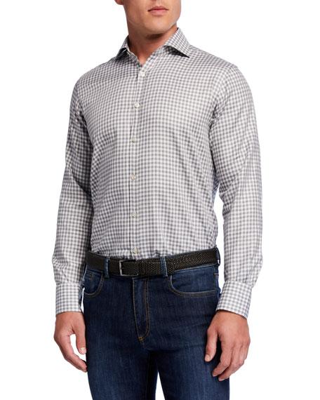 Canali Men's Modern Gingham Sport Shirt