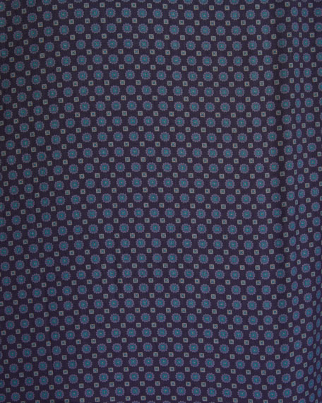 Image 3 of 3: Canali Men's Medallion-Print Sport Shirt