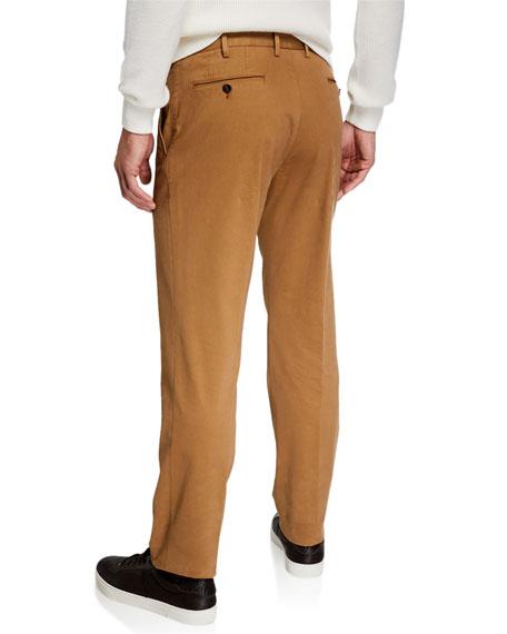 Ermenegildo Zegna Men's Garment-Dyed Tab Twill Pants, Light Beige