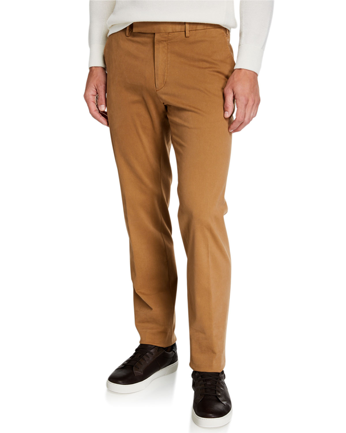 Men's Garment Dyed Tab Twill Pants by Ermenegildo Zegna