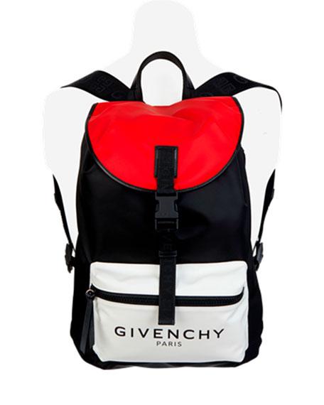 Givenchy Men's Light 3 Colorblock Nylon Backpack