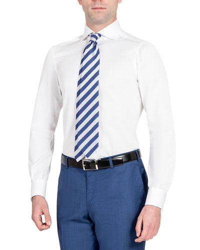 Men's Textured Woven Dress Shirt