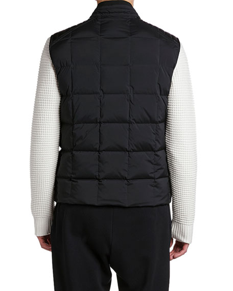 Moncler Men's Holsteiner Zip-Front Quilted Vest