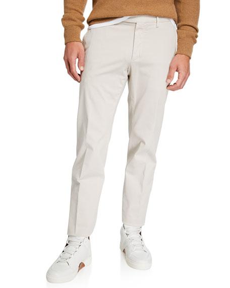 Ermenegildo Zegna Men's Garment-Dyed Tab Pants, Beige