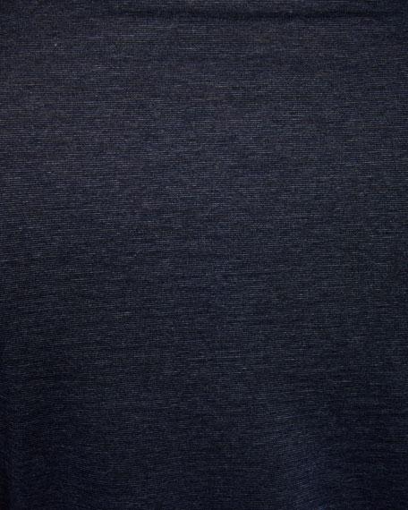Ermenegildo Zegna Men's Long-Sleeve Heathered Polo Shirt