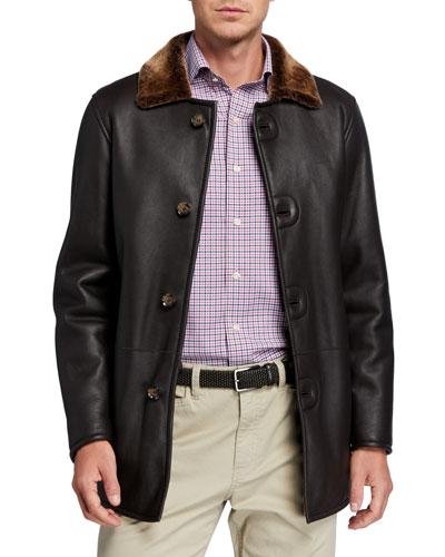 Men's Lamb Leather & Shearling Jacket