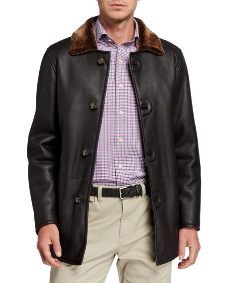 Peter Millar Men's Lamb Leather & Shearling Jacket