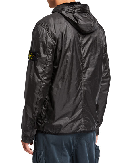 Stone Island Men's Lightweight Nylon Hooded Jacket